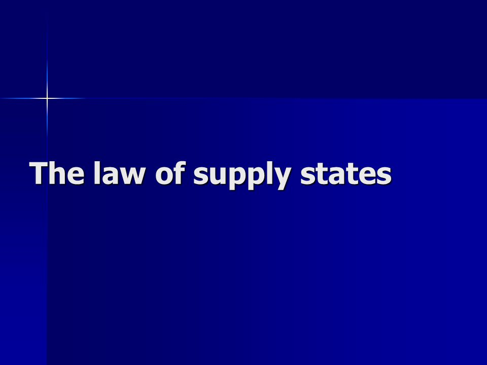 The law of supply states