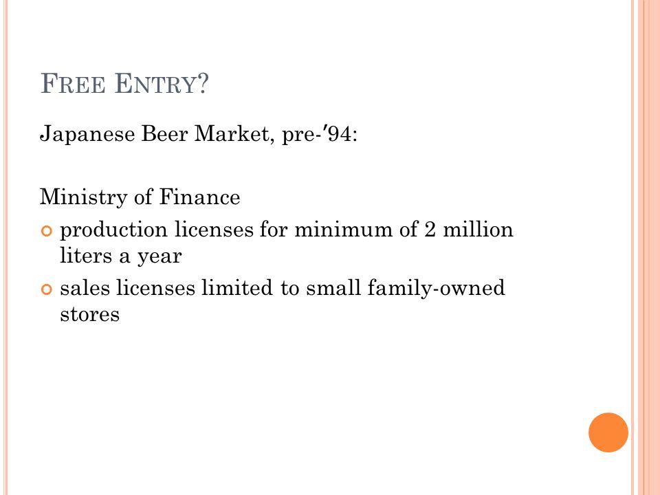 0 20 1010.8 supply new demand original demand 1 million a f b c Quantity (Million ton-miles a year) Price ($ per ton-mile) DEMAND SHIFT, II