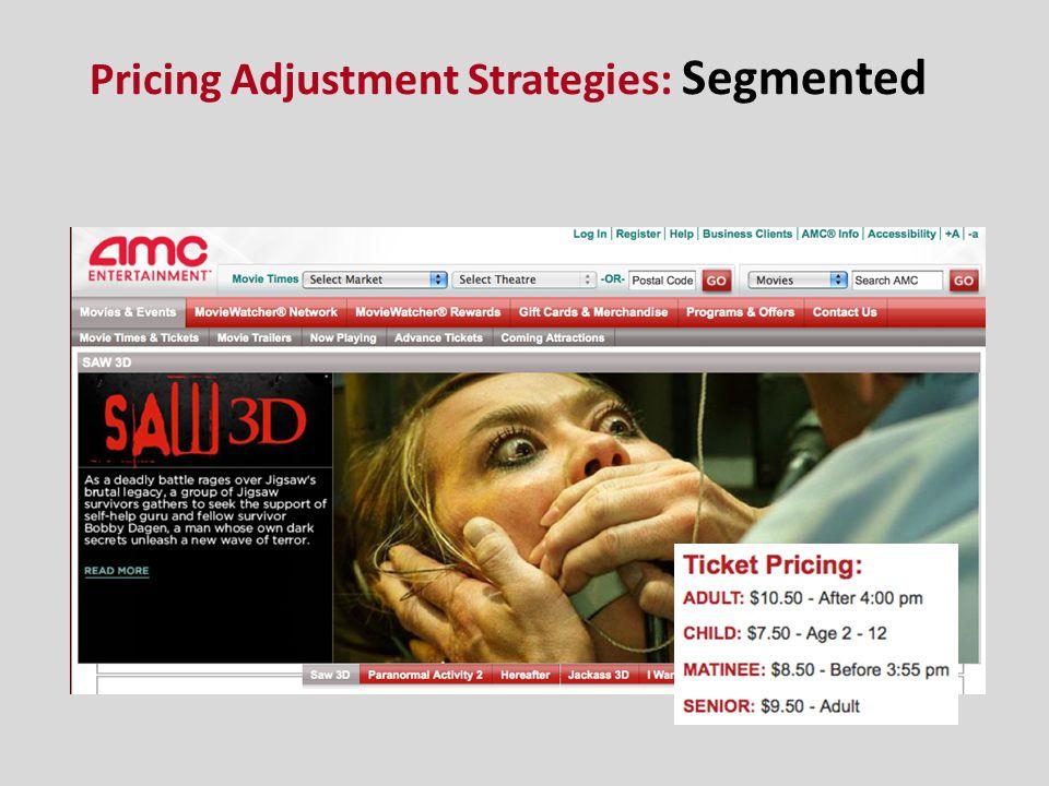 Pricing Adjustment Strategies: Segmented