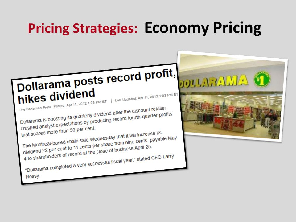 Pricing Strategies: Economy Pricing
