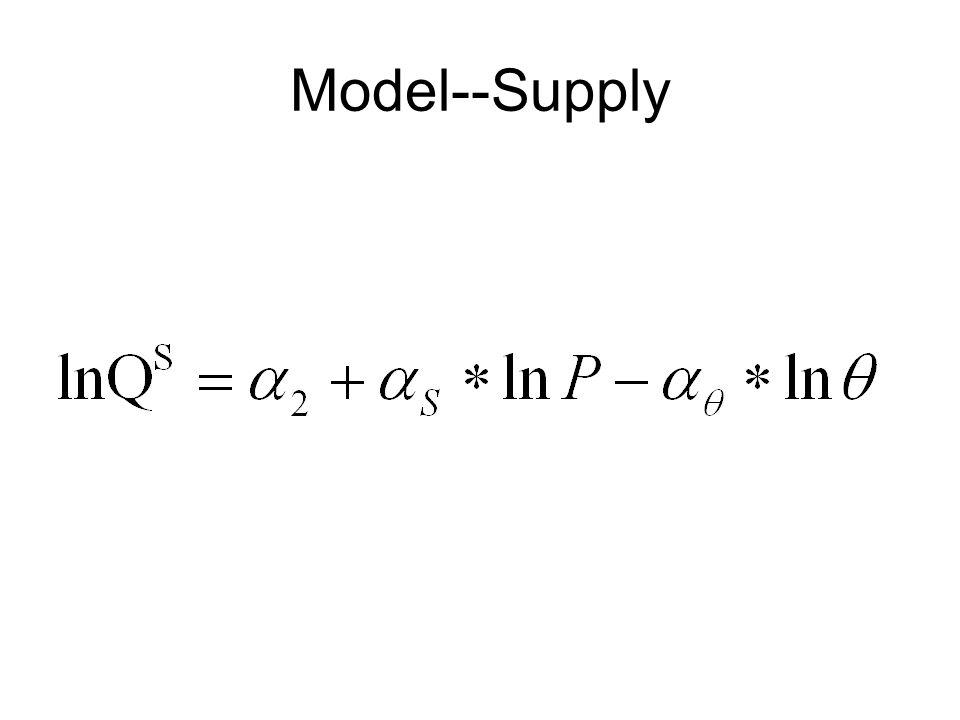 Model--Supply
