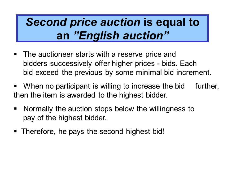 Another person gets the item If your bid is higher than your true willingness to pay, there is an increasing probability that you get the item for the price p, which is higher then z i and you have to pay more than your true evaluation and you realize some negative consumer surplus.