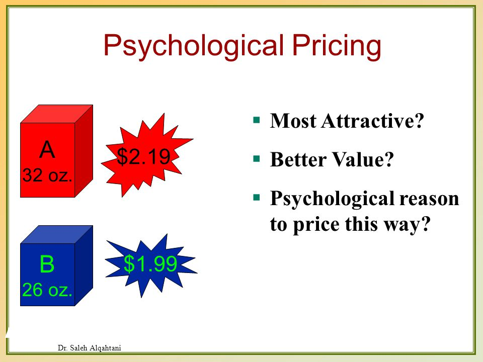 Dr. Saleh Alqahtani Psychological Pricing Most Attractive.