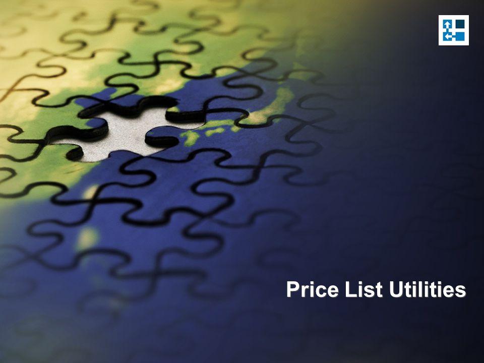 Update Price List Wizard