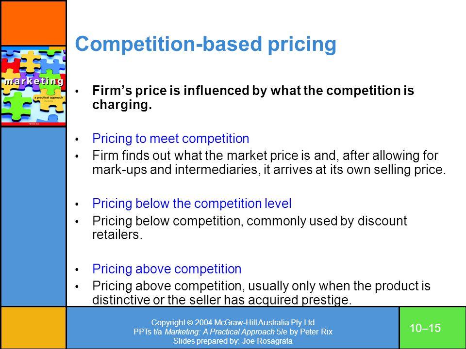 Copyright 2004 McGraw-Hill Australia Pty Ltd PPTs t/a Marketing: A Practical Approach 5/e by Peter Rix Slides prepared by: Joe Rosagrata 10–15 Competi