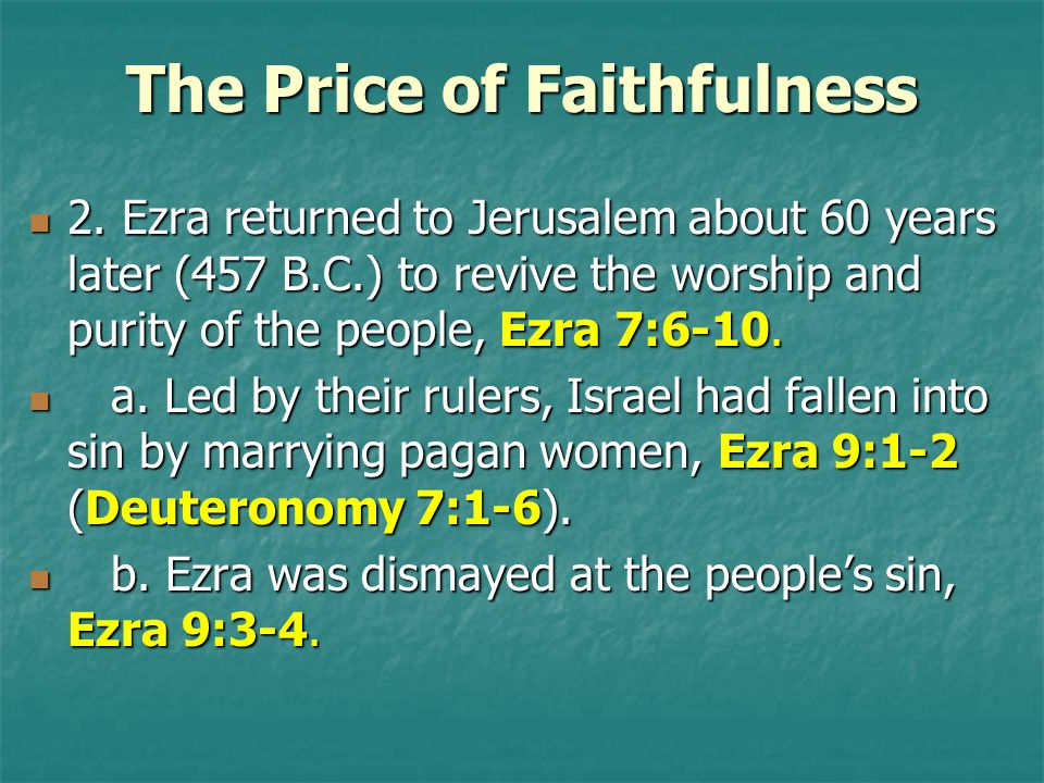 The Price of Faithfulness 2.