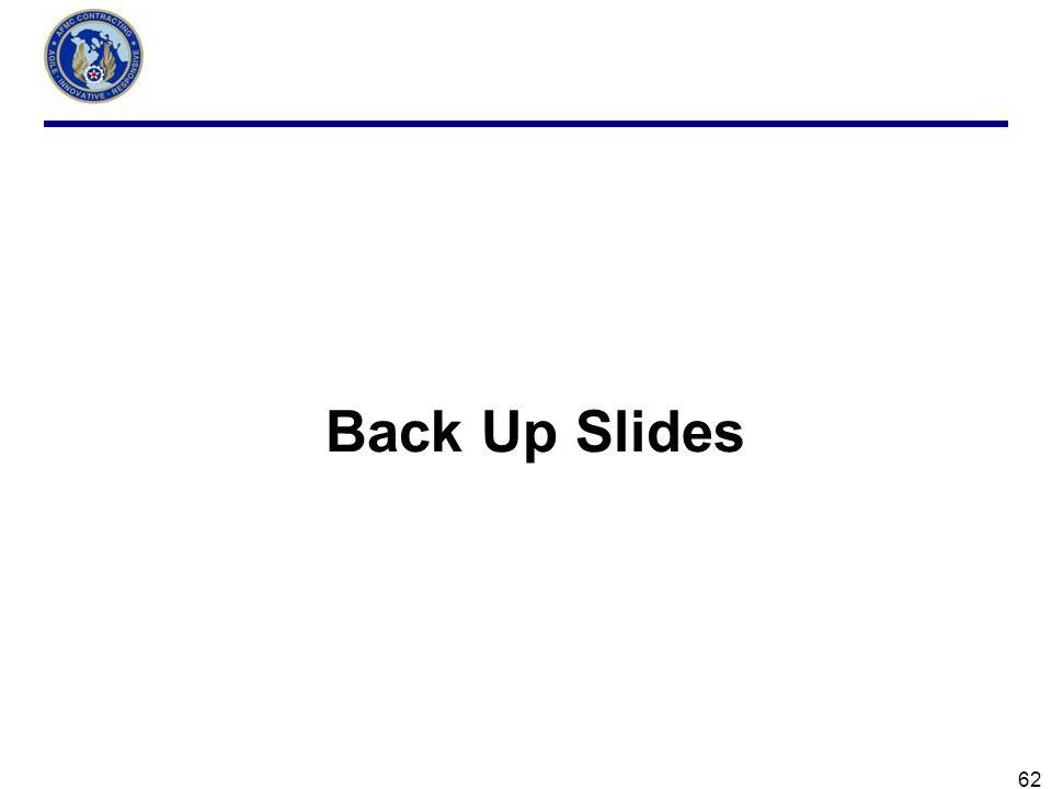 62 Back Up Slides