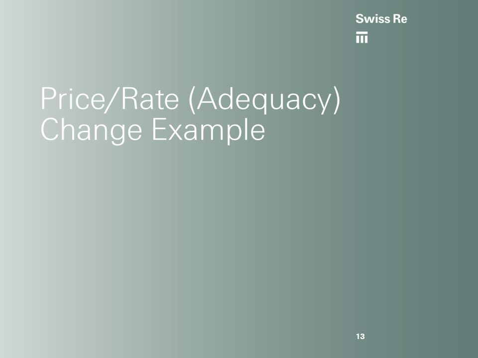 Price/Rate (Adequacy) Change Example 13