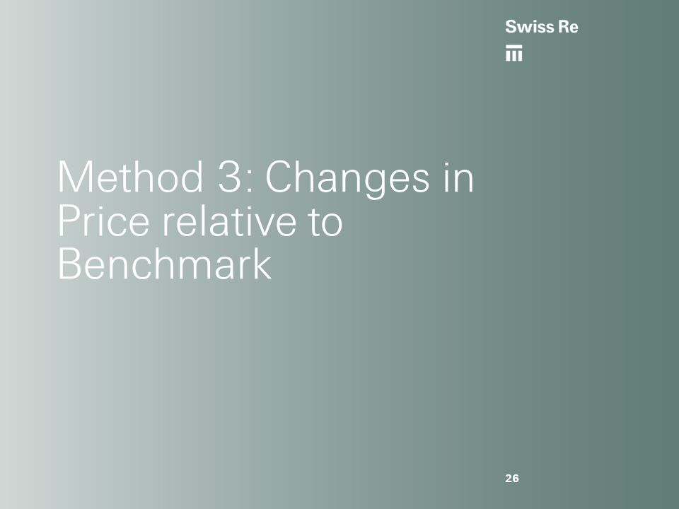 26 Method 3: Changes in Price relative to Benchmark