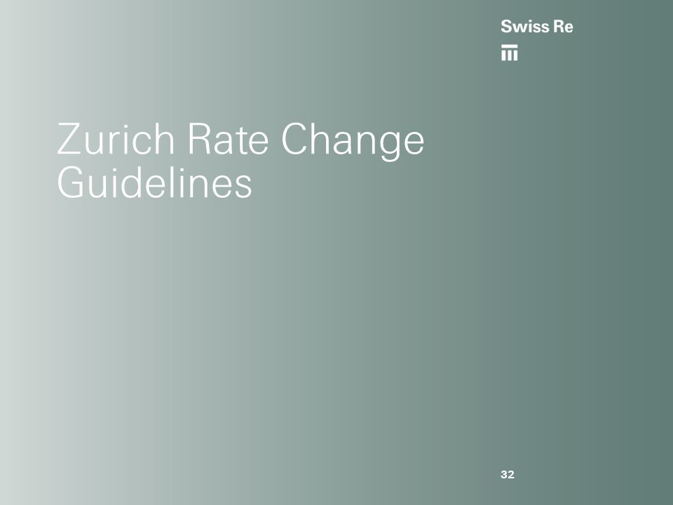 Zurich Rate Change Guidelines 32