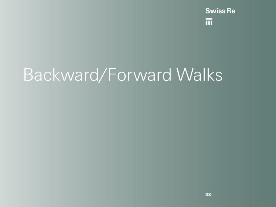 Backward/Forward Walks 33