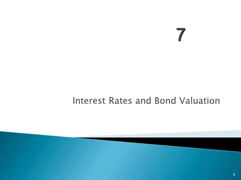 7 Interest Rates and Bond Valuation 0