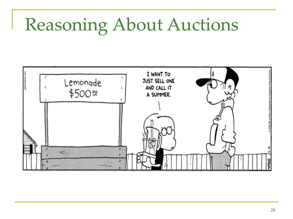 26 Reasoning About Auctions