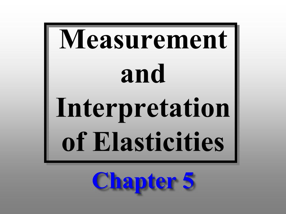 Own Price Elasticity of Demand 12 Why is η ii a unit free measure.