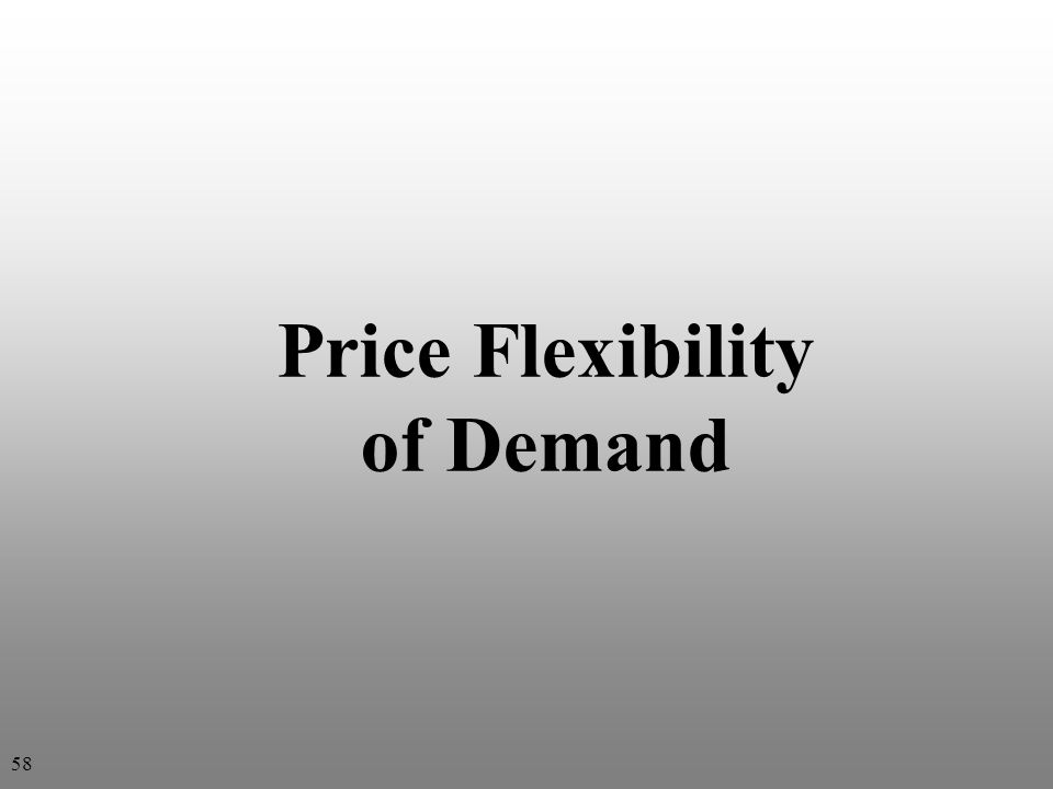 Price Flexibility of Demand 58