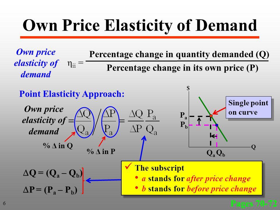 PbPb PaPa Q b Q a $ Q Inelastic Demand Curve A B 0 Change in revenue (TR) is TR a – TR b TR = 0P a BQ a – 0P b AQ b TR = Q b DBQ a – P a P b AD TR % Q increase is less than %P decrease D Red Box Purple Box When you have inelastic demand in price total revenue 27