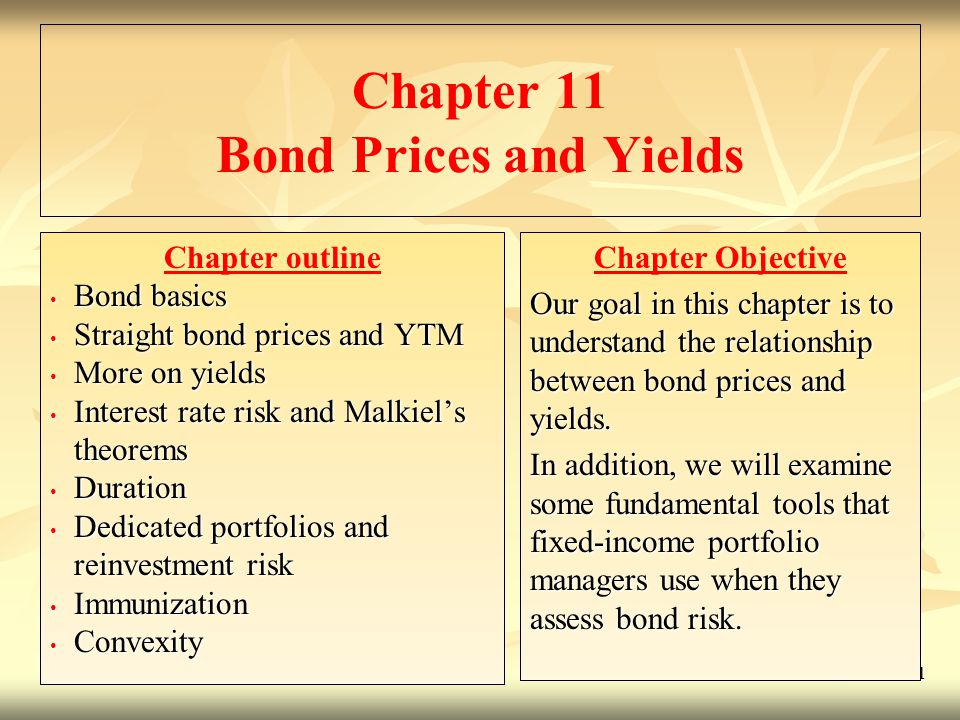 © 2009 McGraw-Hill Ryerson Limited 11- 2 Bond Basics A Straight bond is an IOU that obligates the issuer of the bond to pay the holder of the bond: A fixed sum of money (called the principal, par value, or face value) at the bonds maturity, and sometimes Constant, periodic interest payments (called coupons) during the life of the bond.
