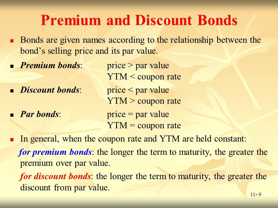11- 10 Premium and Discount Bonds