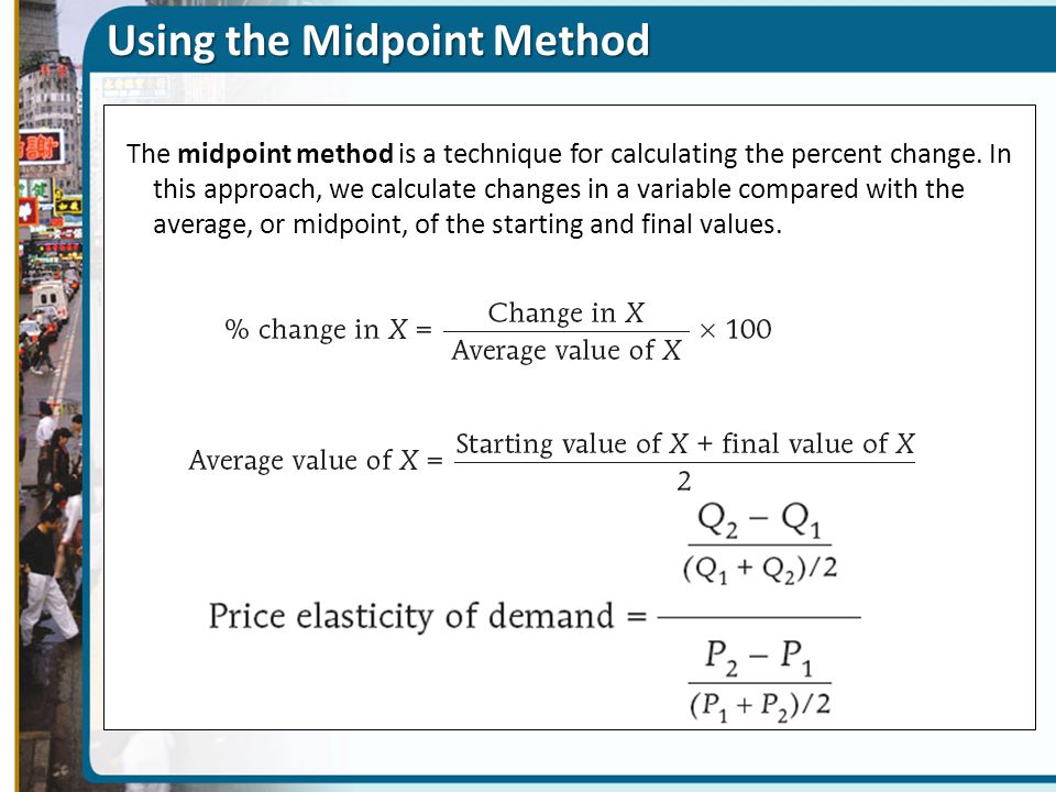 Using the Midpoint Method