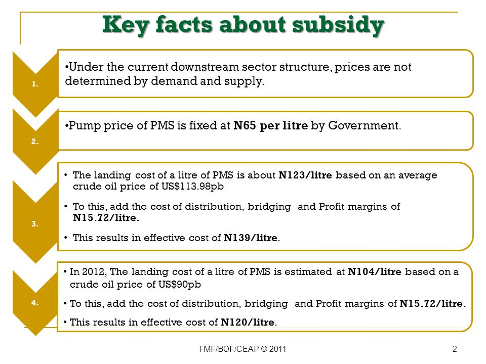 Where will Nigeria stand after Subsidy Removal.(1) FMF/BOF/CEAP © 2011 13 Within Africa...