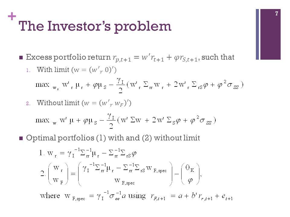 + The Investors problem 7