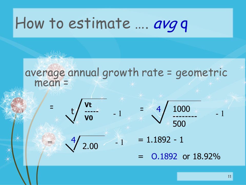 How to estimate ….