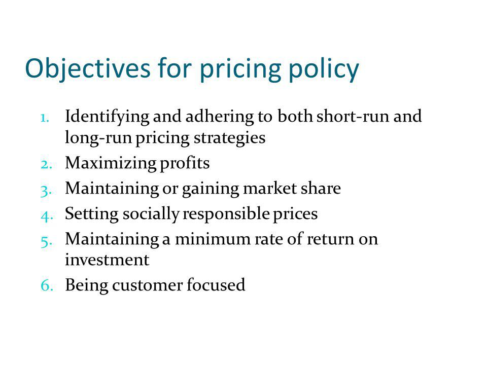 Economic Pricing Concepts Economic approach to pricing Based on microeconomic theory Marginal Cost = Marginal Return Profit will be maximized when the difference between total revenue and total costs is the greatest
