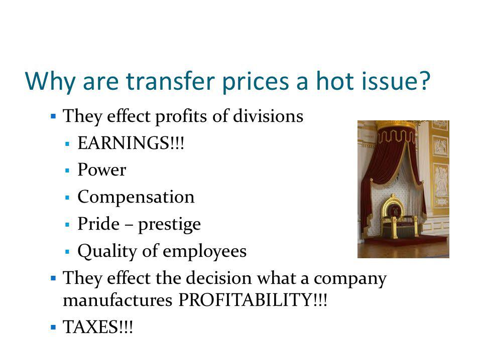 The optimal transfer price allows each division manager to make decisions that maximize the companys profit, while attempting to maximize his/her own divisions profit.