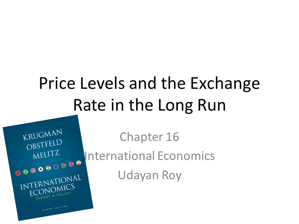 Price Levels and the Exchange Rate in the Long Run Chapter 16 International Economics Udayan Roy
