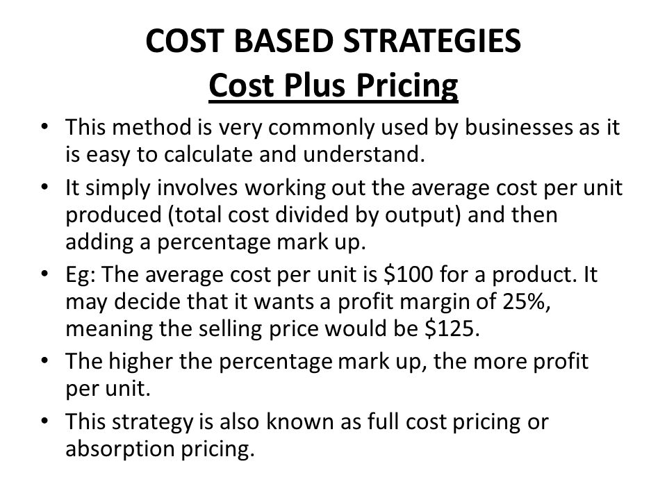 MARKET BASED PRICING Price Skimming This is most commonly seen with new and innovative products, such as new mobile phones and games consoles.
