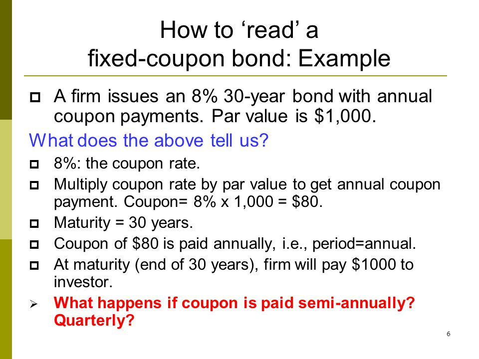 37 Current yield (1) Annual coupon payment divided by bond price.