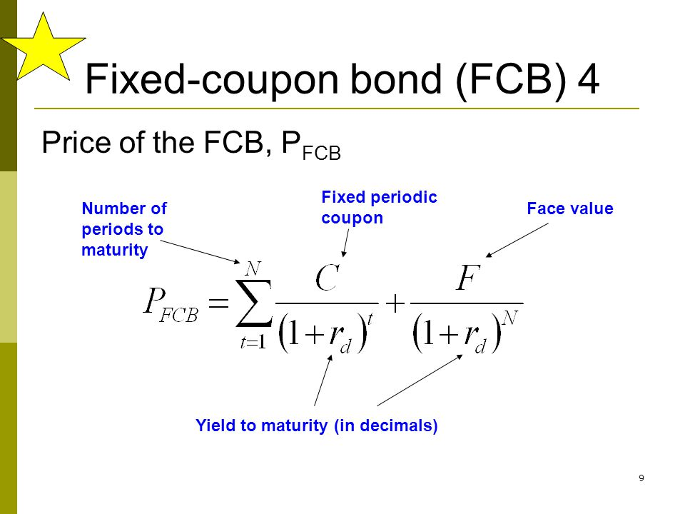 40 In general, we have the following relationship between coupon rate, current yield, & YTM If bond is selling at…Then we know that… Discount (below par) Coupon rate < Current yield < YTM ParCoupon rate = Current yield = YTM Premium (above par) Coupon rate > Current yield > YTM