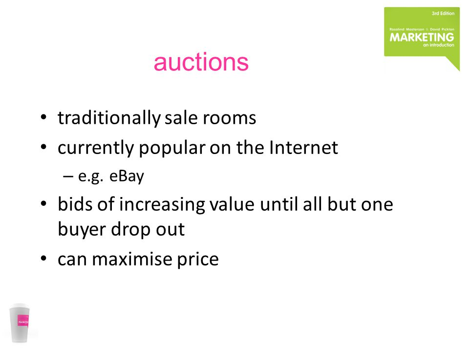 auctions traditionally sale rooms currently popular on the Internet – e.g.
