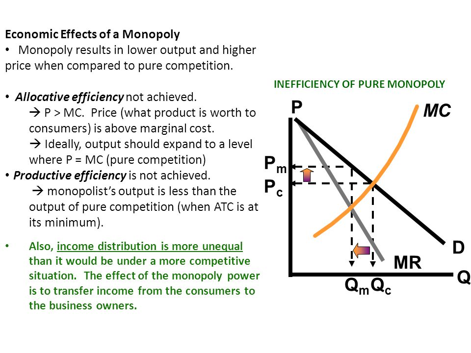 Regulated Monopoly Monopoly power may result in an adverse effect upon the economy.