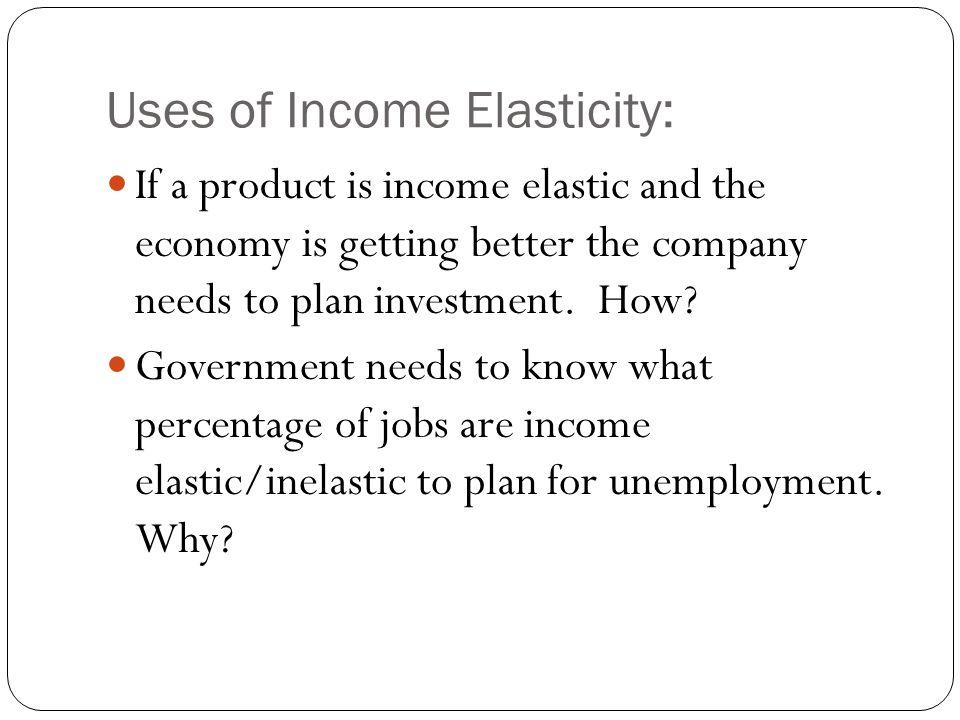 -+ Negative Income Elasticity of Demand A rise in income will cause a decrease in demand and a fall in income will cause an increase in demand for a p