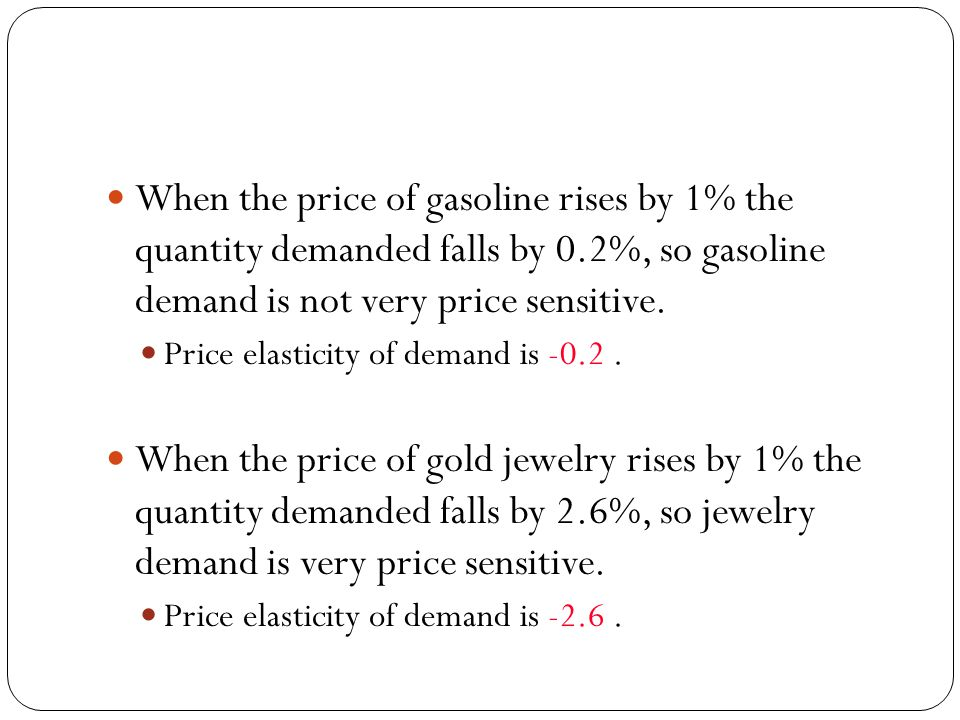 Price Elasticity of Supply Is a measure of the responsiveness of supply to a change in price.