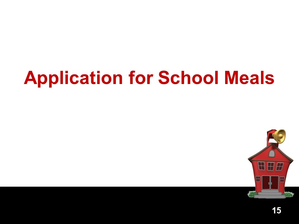 Application for School Meals 15