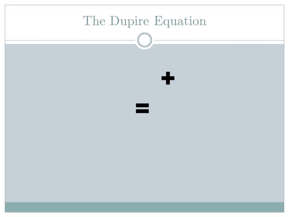 The Dupire Equation + = Kolmogorov Forward Equation The Dupire Equation