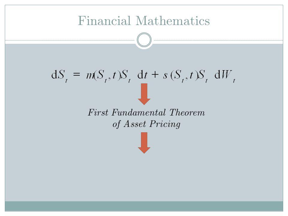 Financial Mathematics First Fundamental Theorem of Asset Pricing