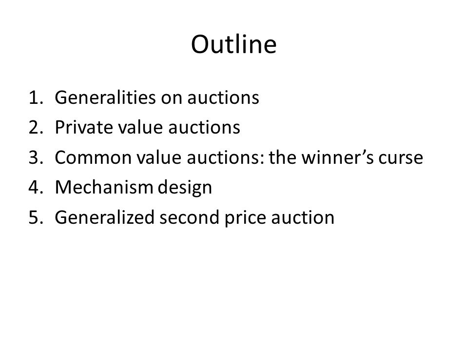 Second-price sealed-bid auction Proposition: In a second-price sealed-bid auction, bidding its true value is weakly dominant
