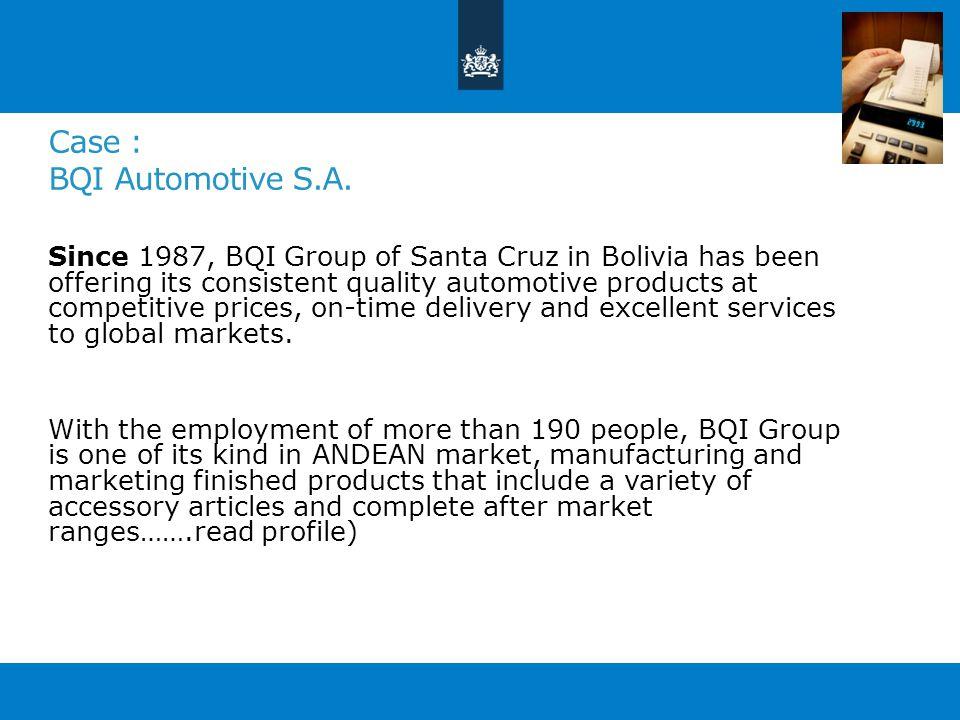 Case : BQI Automotive S.A.