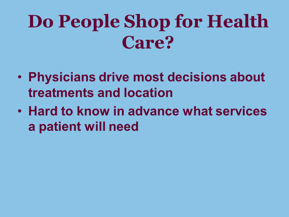 Do People Shop for Health Care.