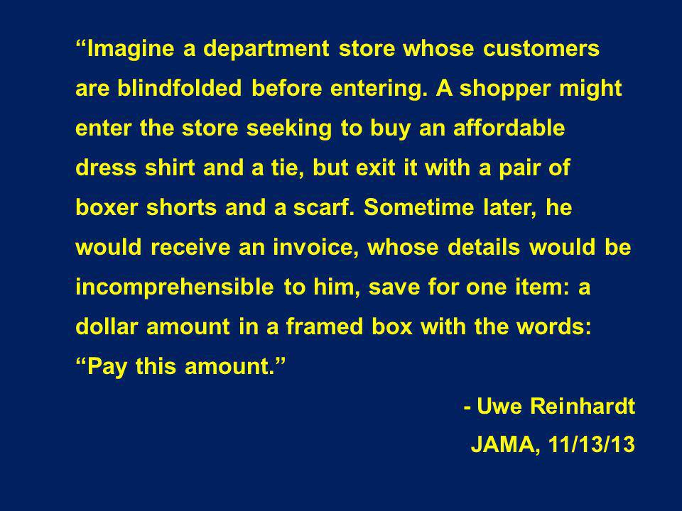 Imagine a department store whose customers are blindfolded before entering.