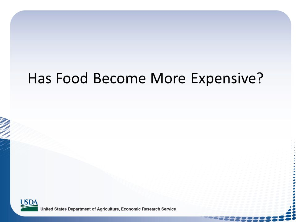 Has Food Become More Expensive?
