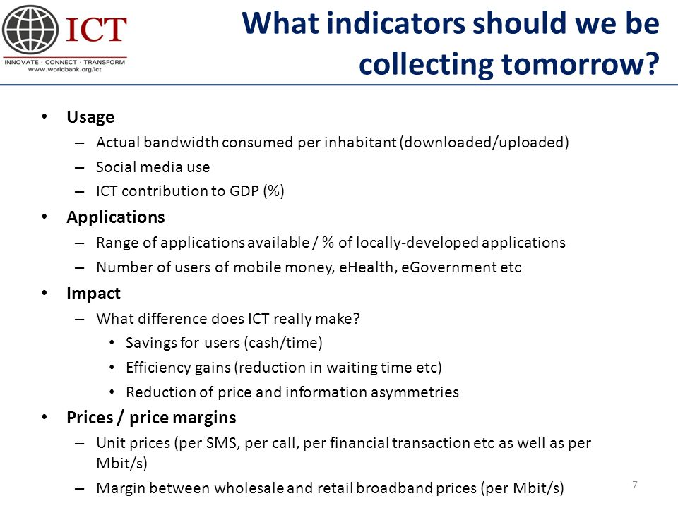 What indicators should we be collecting tomorrow.