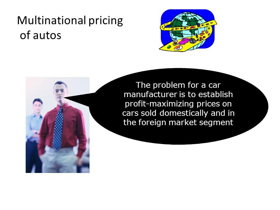 Examples of market segments Business travelers versus tourists.