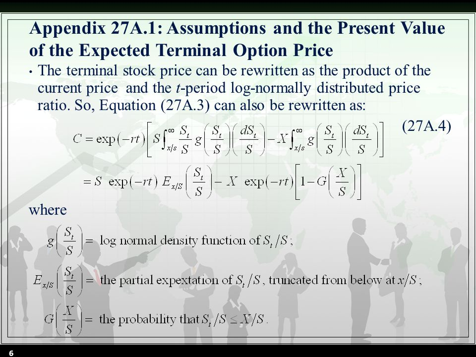 Appendix 27A.2: Present Value of the Partial Expectation of the Terminal Stock Price By Cheng Few Lee Joseph Finnerty John Lee Alice C Lee Donald Wort