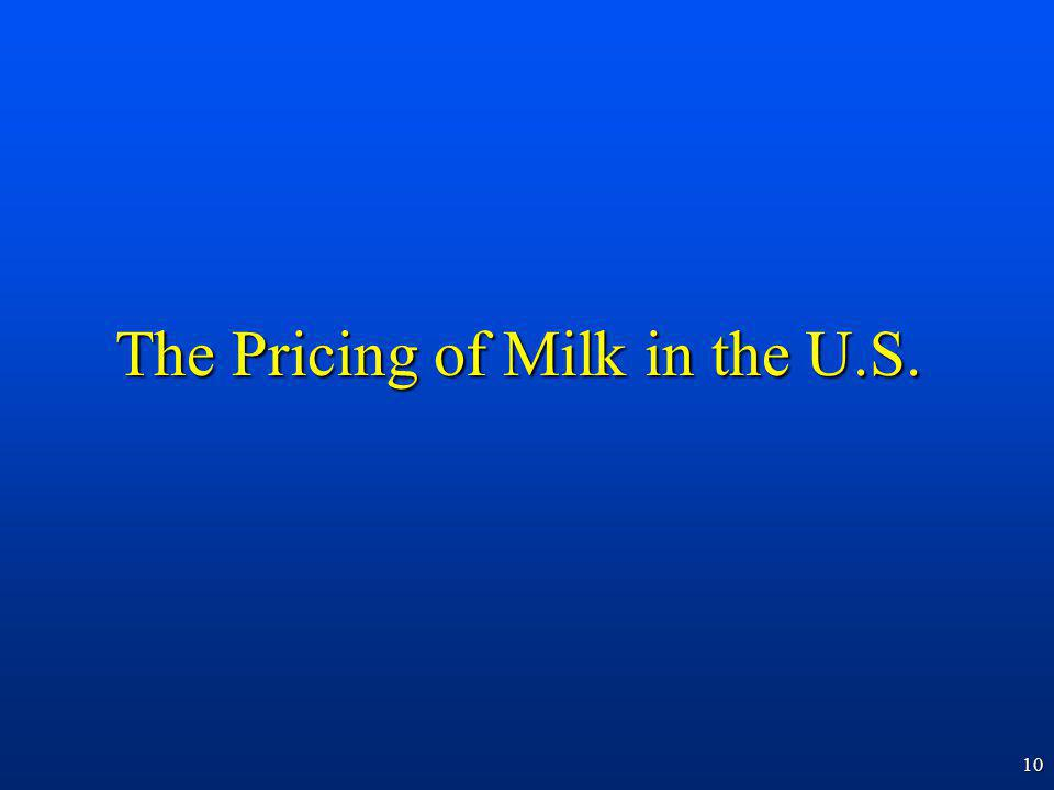 10 The Pricing of Milk in the U.S.