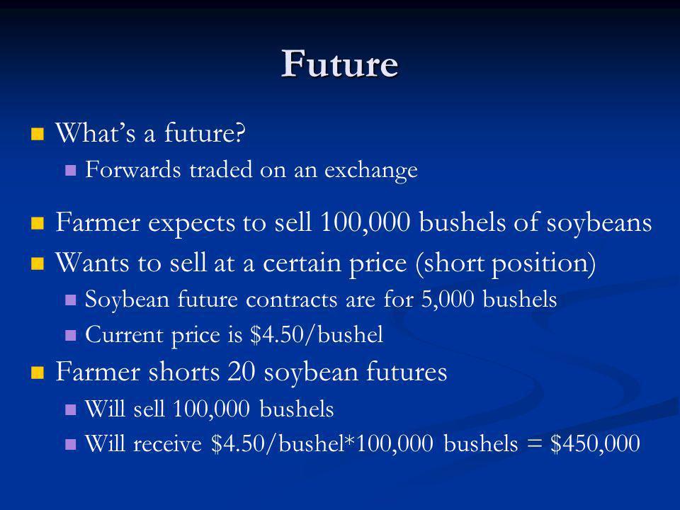 Future Whats a future.