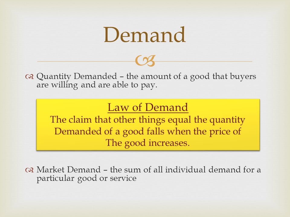 Perfectly Inelastic Demand Inelastic Demand Unitary Elastic Demand Elastic Demand Perfectly Elastic Demand Different Types of Demand